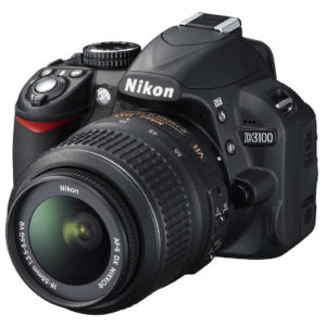 Nikon D3100, 14.2MP + Obiectiv 18-55mm VR