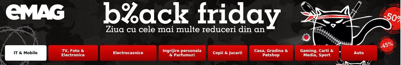Informații despre Black Friday la eMAG